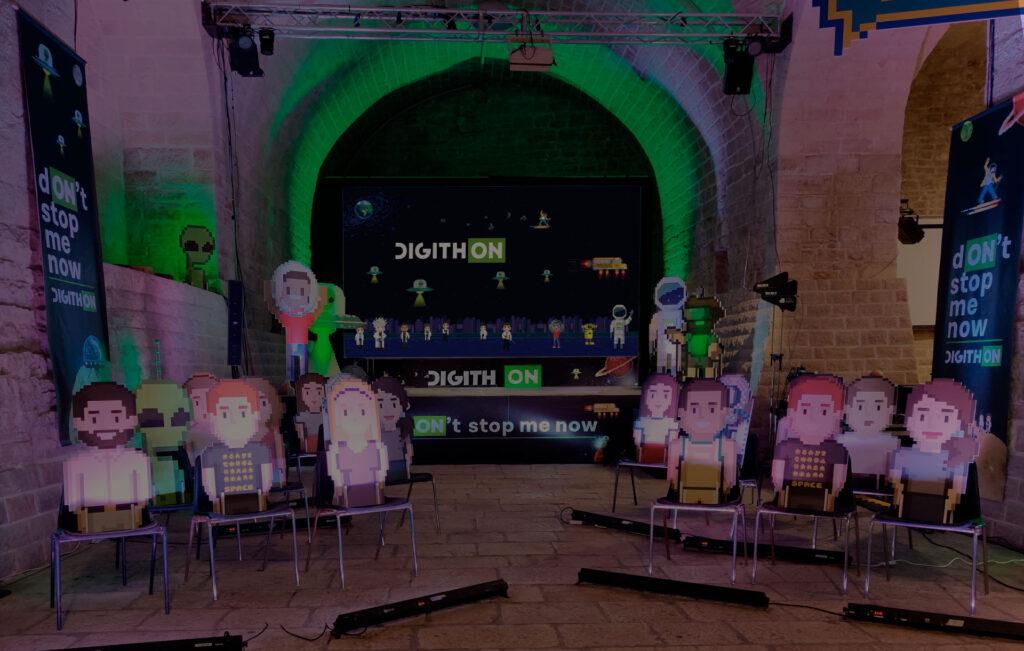 Brand identity e comunicazione Mad Fever per Digithon