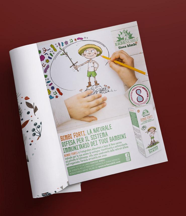 Mad Fever - Erbenobili pagina pubblicitaria Bimbi Forti