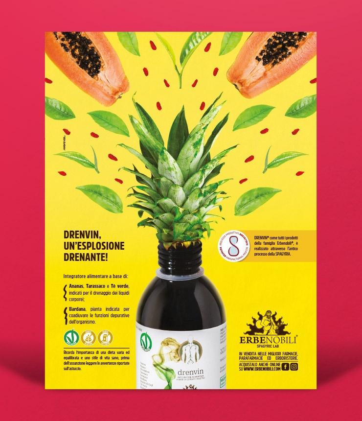 Mad Fever - Erbenobili pagina pubblicitaria Drenvin 2021
